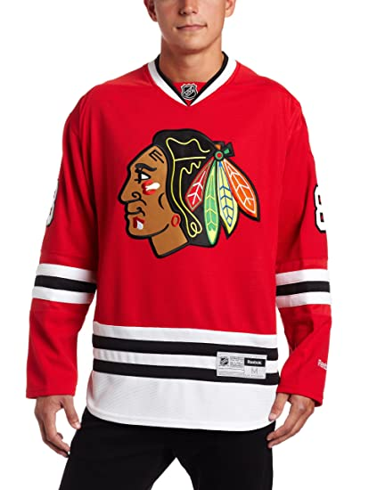 NHL Men s Chicago Blackhawks  88 Patrick Kane Reebok Edge Premier Player  Jersey (Red 09962ae4f