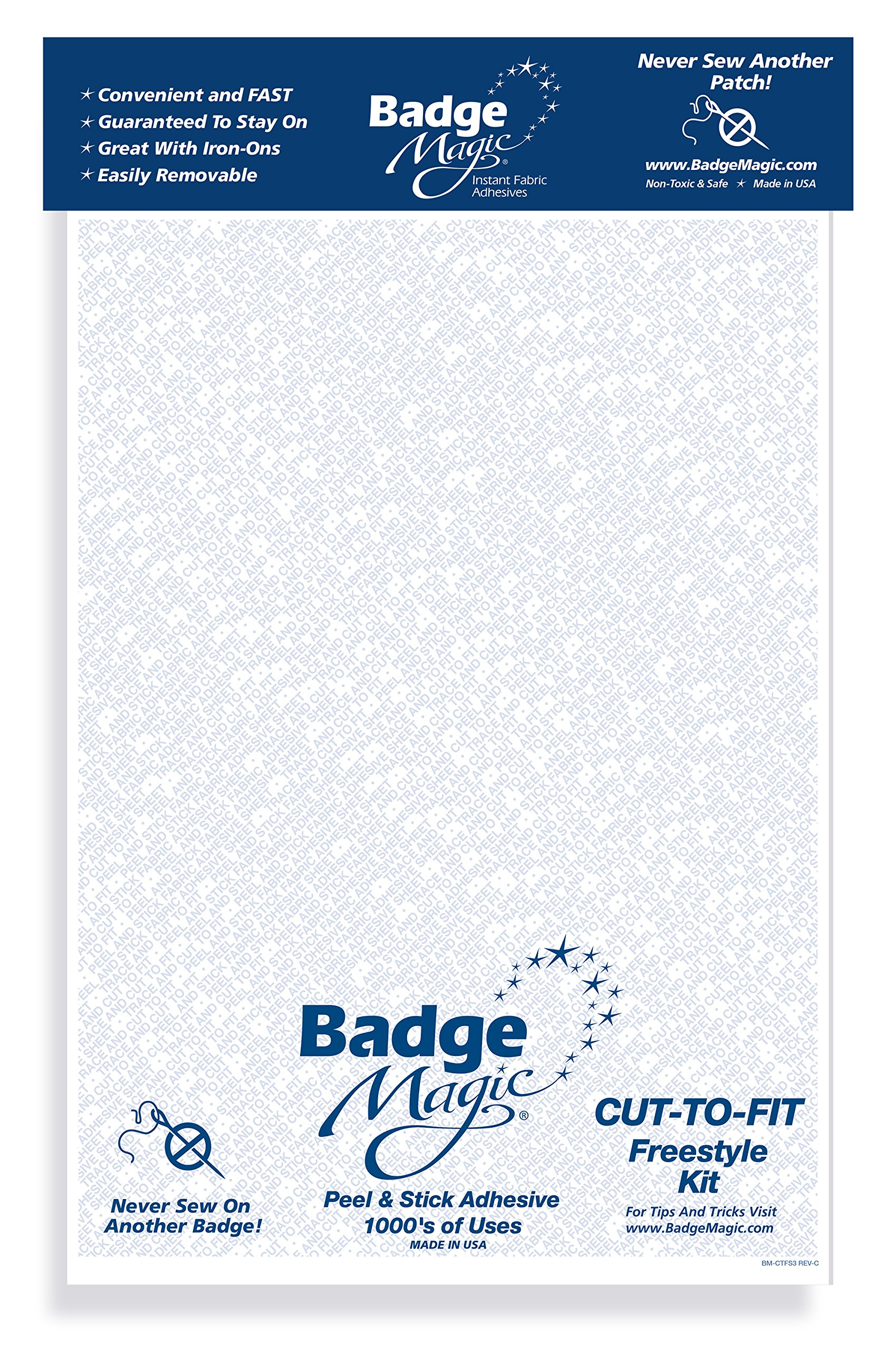 Badge Magic Cut to Fit Freestyle Patch Adhesive Kit (3-Pack) by Badge Magic