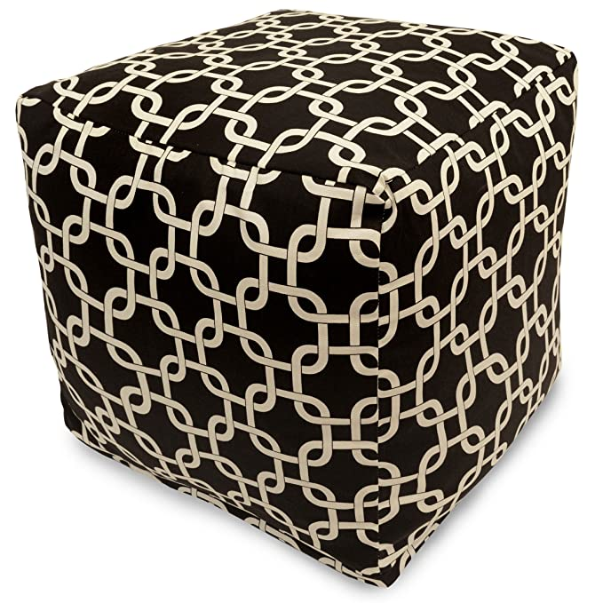 Majestic Home Goods Links Indoor/Outdoor Ottoman Pouf Cube – The Kid-Friendly Outdoor Ottoman