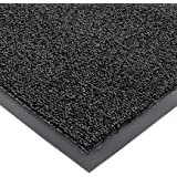 "Notrax Non-Absorbent Fiber 231 Prelude Entrance Mat, for Outdoor and Heavy Traffic Areas, 3' Width x 5' Length x 1/4"" Thickness, Black"