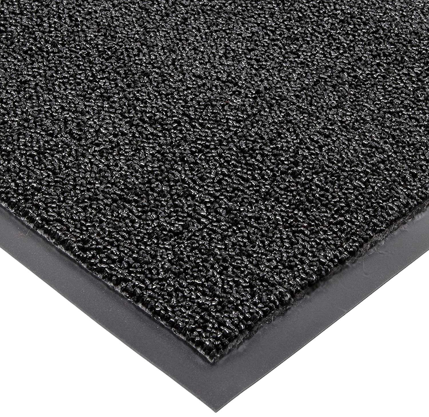 Notrax Non Absorbent Fiber 231 Prelude Entrance Mat for Outdoor and Heavy Traffic Areas 3' Width x 5' Length x 1 4 Thickness Black