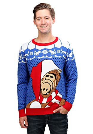 funcominc alf adult ugly christmas sweater 2x - Adult Ugly Christmas Sweater