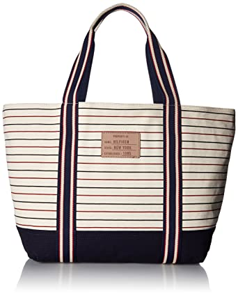6ddc761d26 Amazon.com: Tommy Hilfiger Bag for Women Canvas Item Tote: Clothing