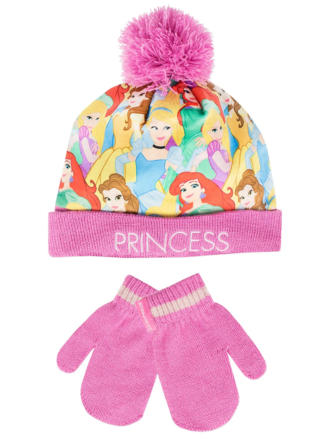 Disney Princess Girls Disney Princess Hat and Gloves Set Ages 2 to 8 Years