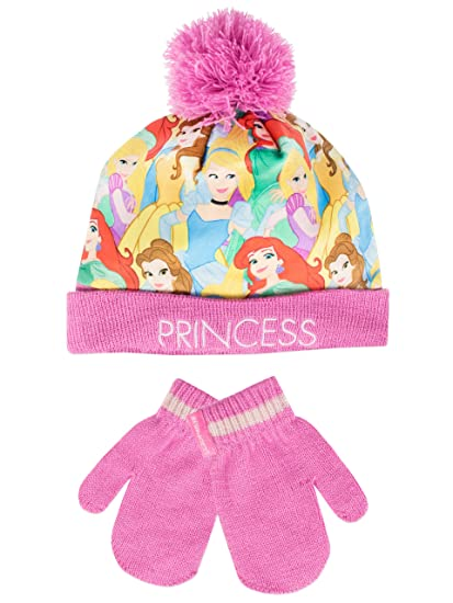 a3f31010c7b55f Amazon.com: Disney Princess Girls' Disney Princess Hat and Gloves ...