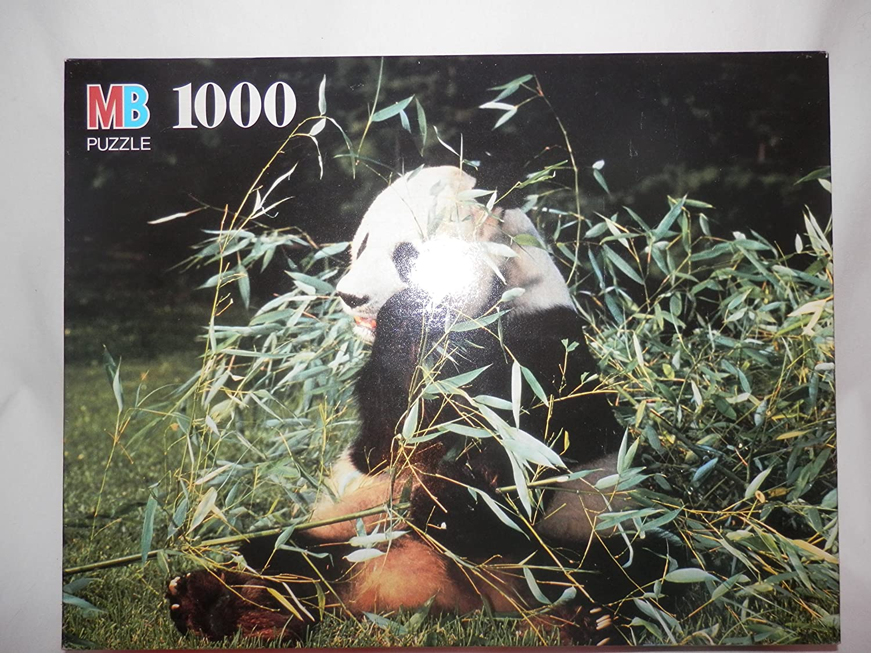 Milton Bradley 1000 Piece Puzzle (Giant Panda) Fully Interlocking Pieces
