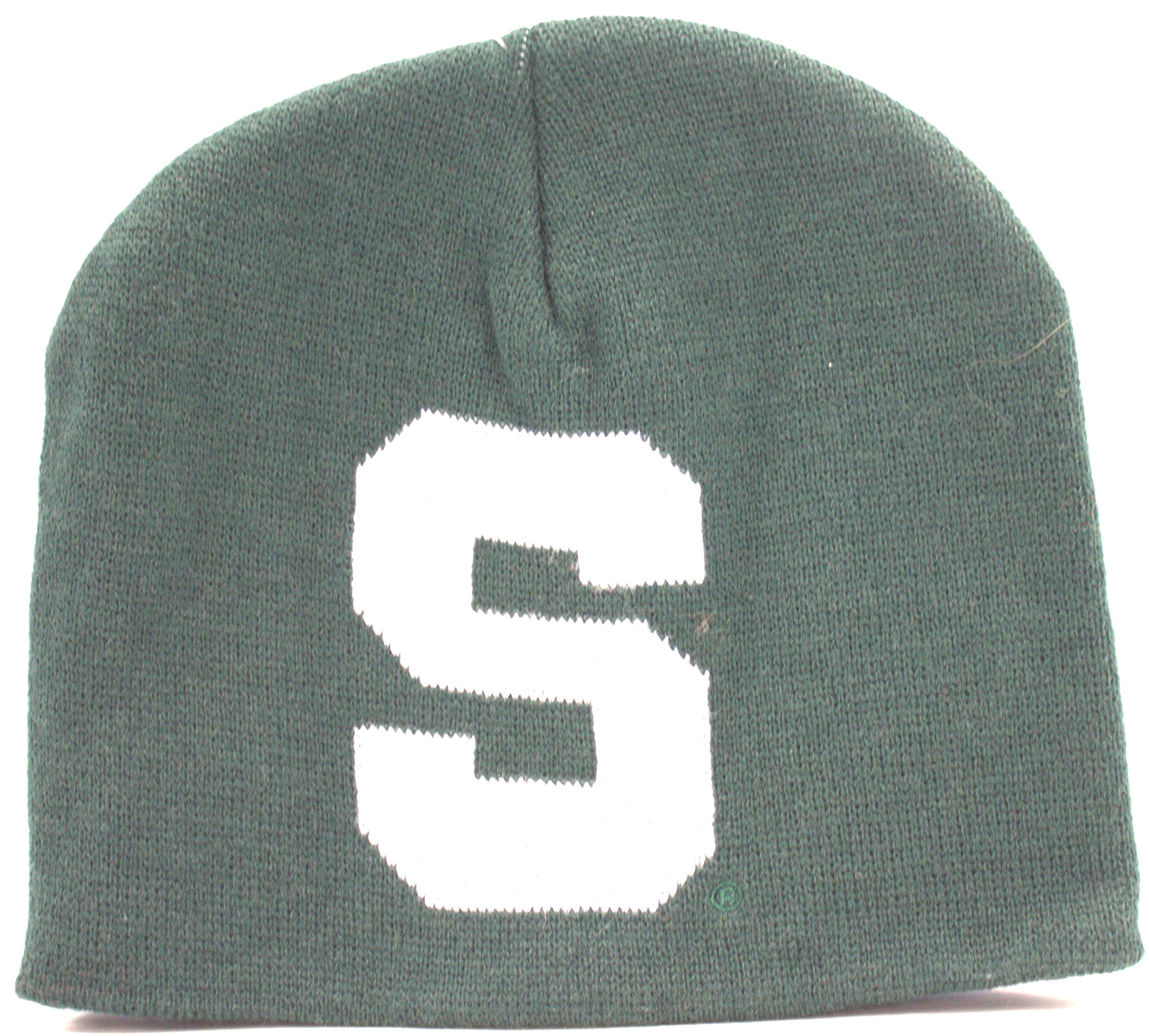 Donegal Bay Michigan State Spartans Uncuffed Logo Jaquard Beanie Hat