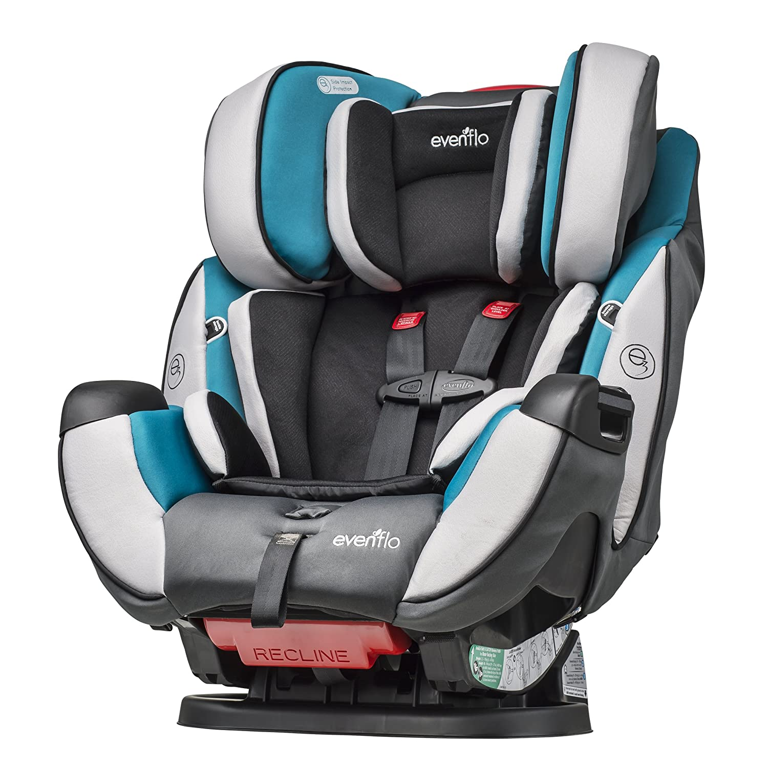 Amazon.com : Evenflo Symphony DLX All-In-One Convertible Car Seat ...