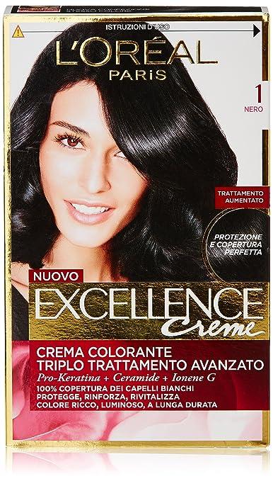 54 opinioni per L'Oréal Paris Excellence Crema Colorante Triplo Trattamento Avanzato, 1 Nero