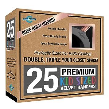 Amazon.com: Closet - Perchas de terciopelo para niños ...
