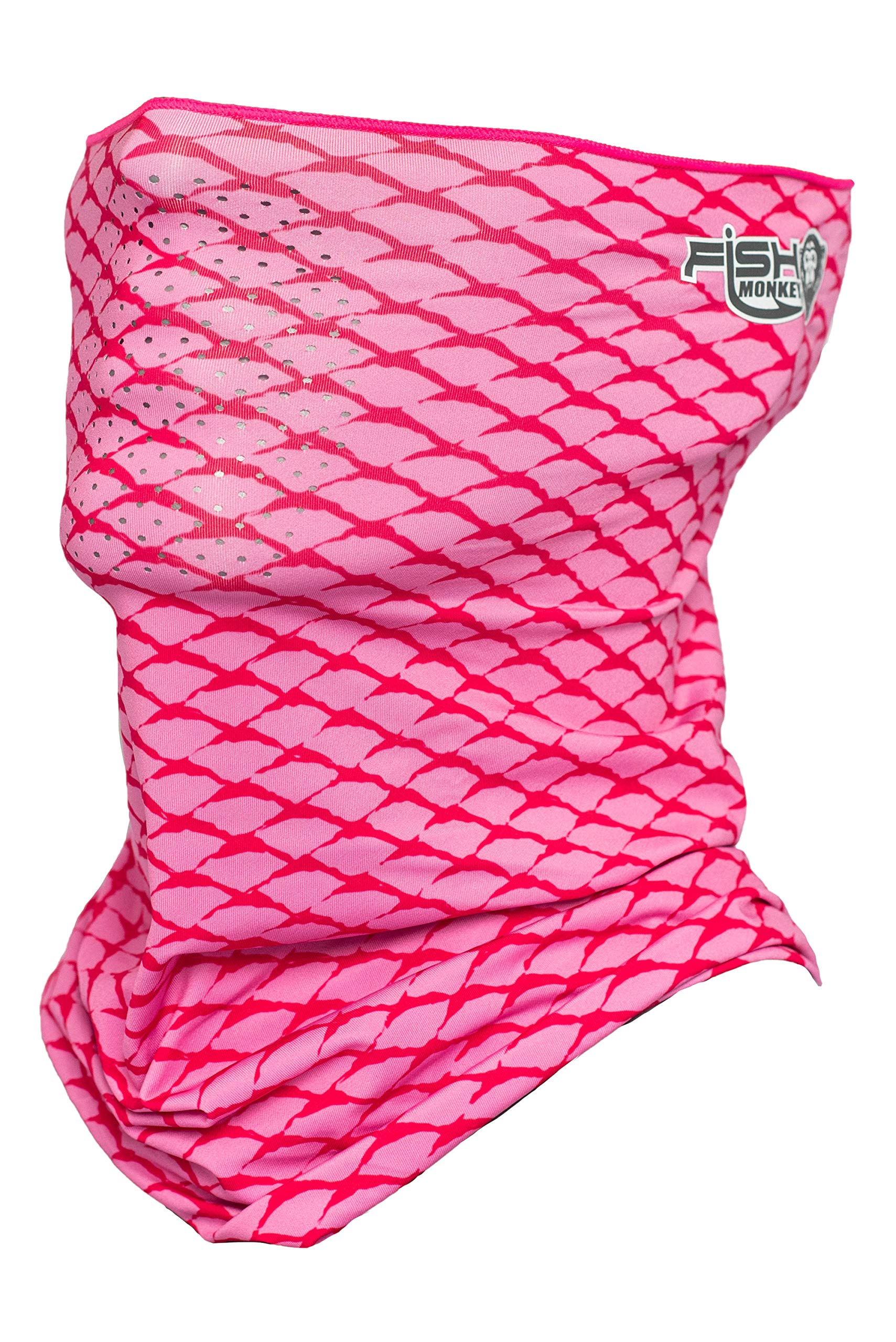 Fish Monkey Performance Face Guard (Pink Scale, One Size)