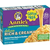 Annie's Homegrown Deluxe Mac & Cheese - Rice Pasta & Extra Cheesy Cheddar Sauce (Gluten-Free) - 11 oz ( Packaging may…