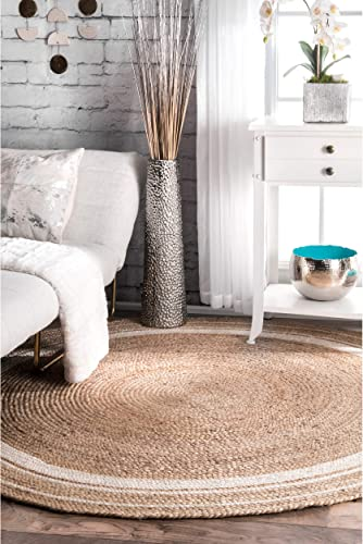 nuLOOM Rikki Braided Border Jute Area Rug
