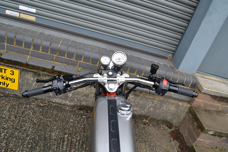 Motorcycle Motorbike Bike Steel 22mm 7//8 Chrome Drag Bars Handlebars top quality