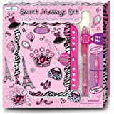 SmitCo LLC Diaries For Girls - Secret Blank Journal/Notebook Set With Passcode Lock And Invisible Ink Pen With Black Light Top To Keep Her Secrets Safe In a Diva Design - For Ages 6 And Over