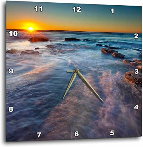 3dRose Pacific Ocean Near Sunset Cliffs in San Diego, CA-Wall Clock, 10-inch DPP_208155_1