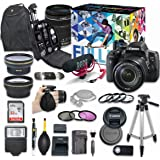 Canon EOS Rebel T6i DSLR Video Creator Kit with Canon EF-S 18-135mm f/3.5-5.6 IS STM Lens + Wide Angle Lens + 2x Telephoto Lens + Flash + SanDisk 32GB SD Memory Card + Accessory Bundle
