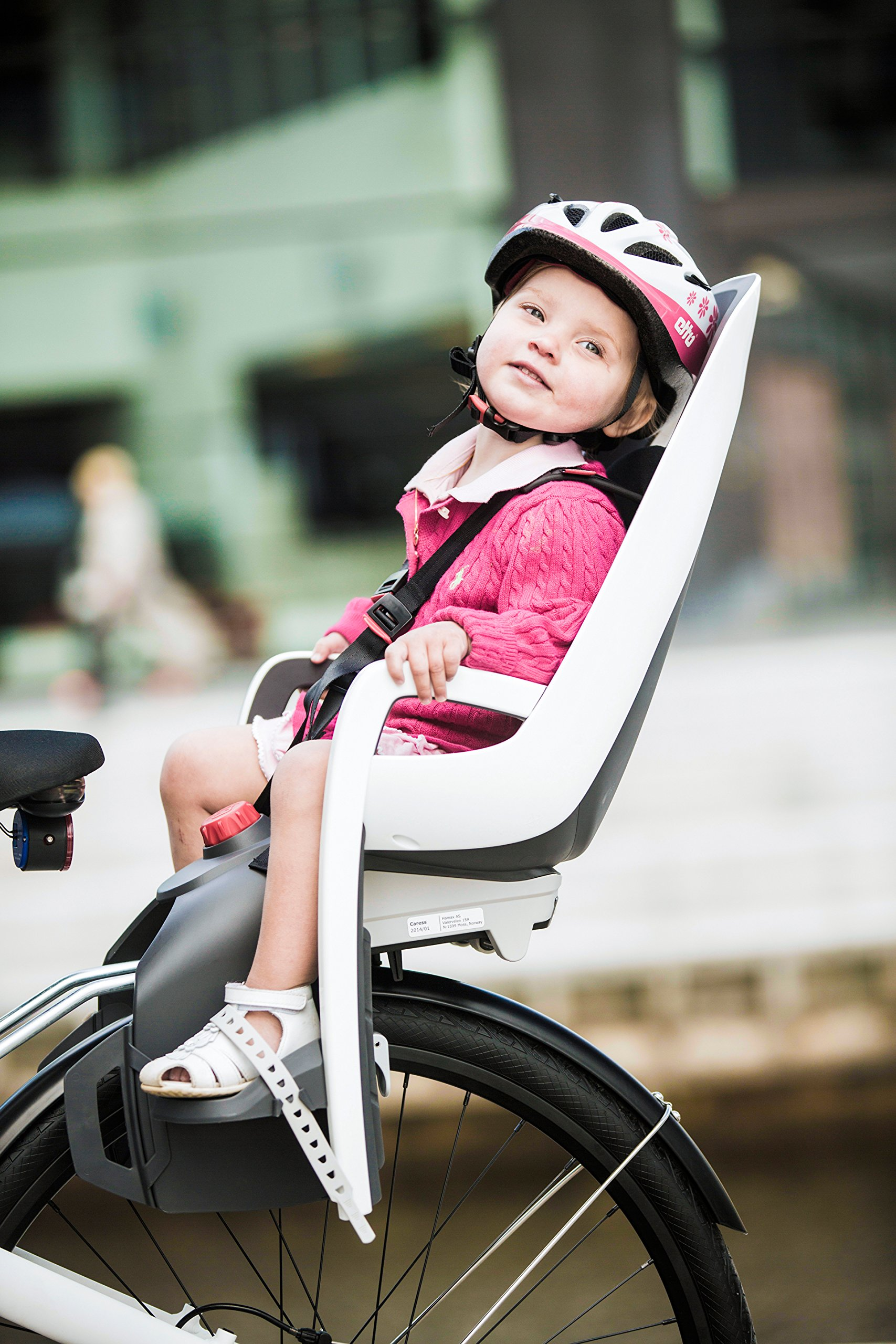 Hamax Caress Rear Child Bike Seat (Grey/White, Frame Mount) by Hamax (Image #4)