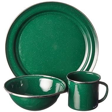 GSI Outdoors 4 Person 25212 Pioneer Table Set Green Enamel