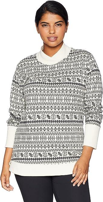 Columbia Holly Peak Plus Size Jacquard Long Sleeve Shirt Camiseta para Senderismo, Bisque Claro, XL para Mujer: Amazon.es: Ropa y accesorios