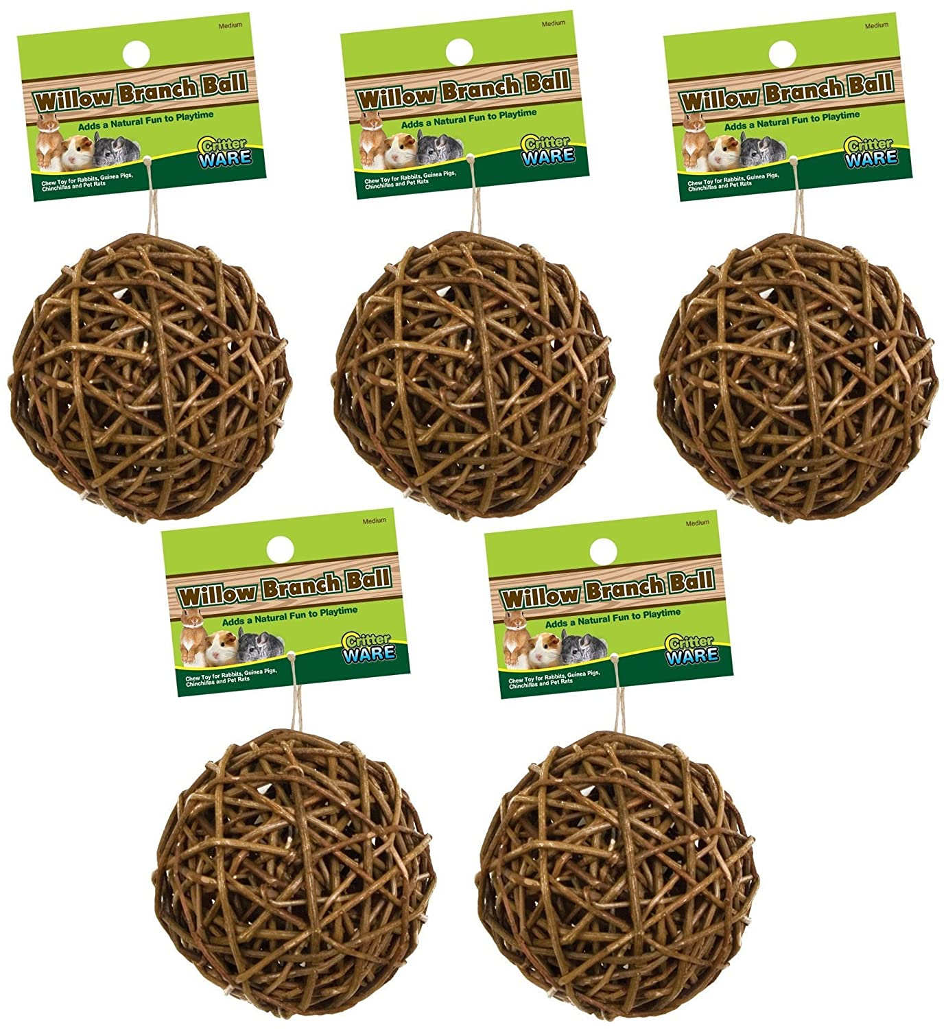 (5 Pack) Ware Manufacturing Willow Branch Ball 4-inch SPOMHNK875