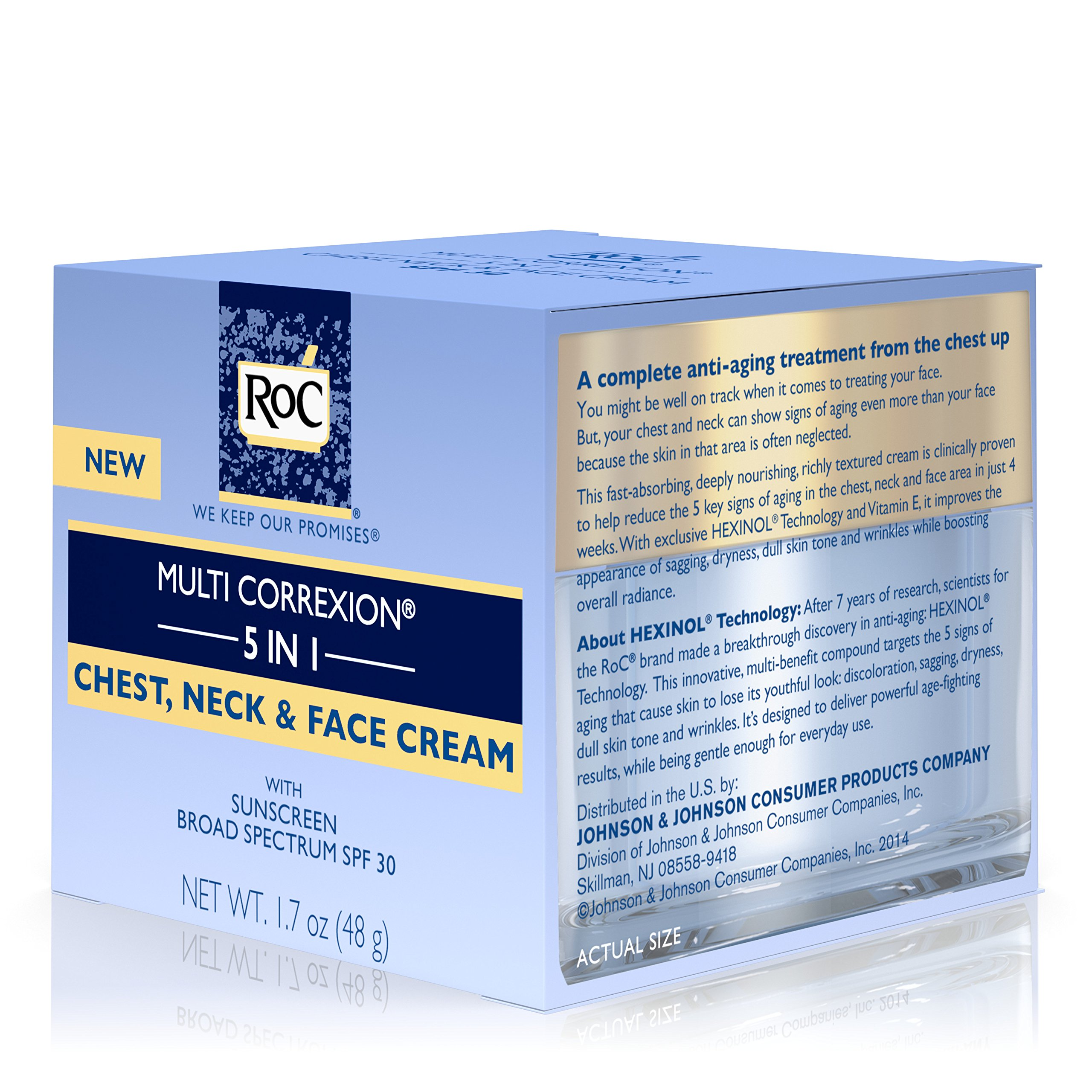 RoC Multi Correxion 5 in 1 Anti-Aging Chest, Neck and Face Cream with SPF 30, Moisturizing Cream Made with Vitamin E, 1.7 oz by RoC (Image #6)