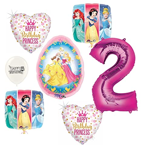 Image Unavailable Not Available For Color Disney Princess Happy 2nd Birthday Party Balloons Bundle