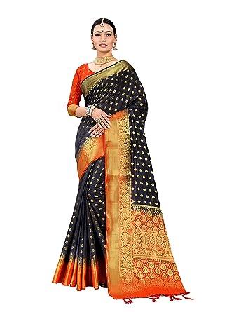 Other Women's Clothing Saree Women Banarasi Art Silk Woven Saree Indian Ethnic Wedding Sari Red 33 Without Return
