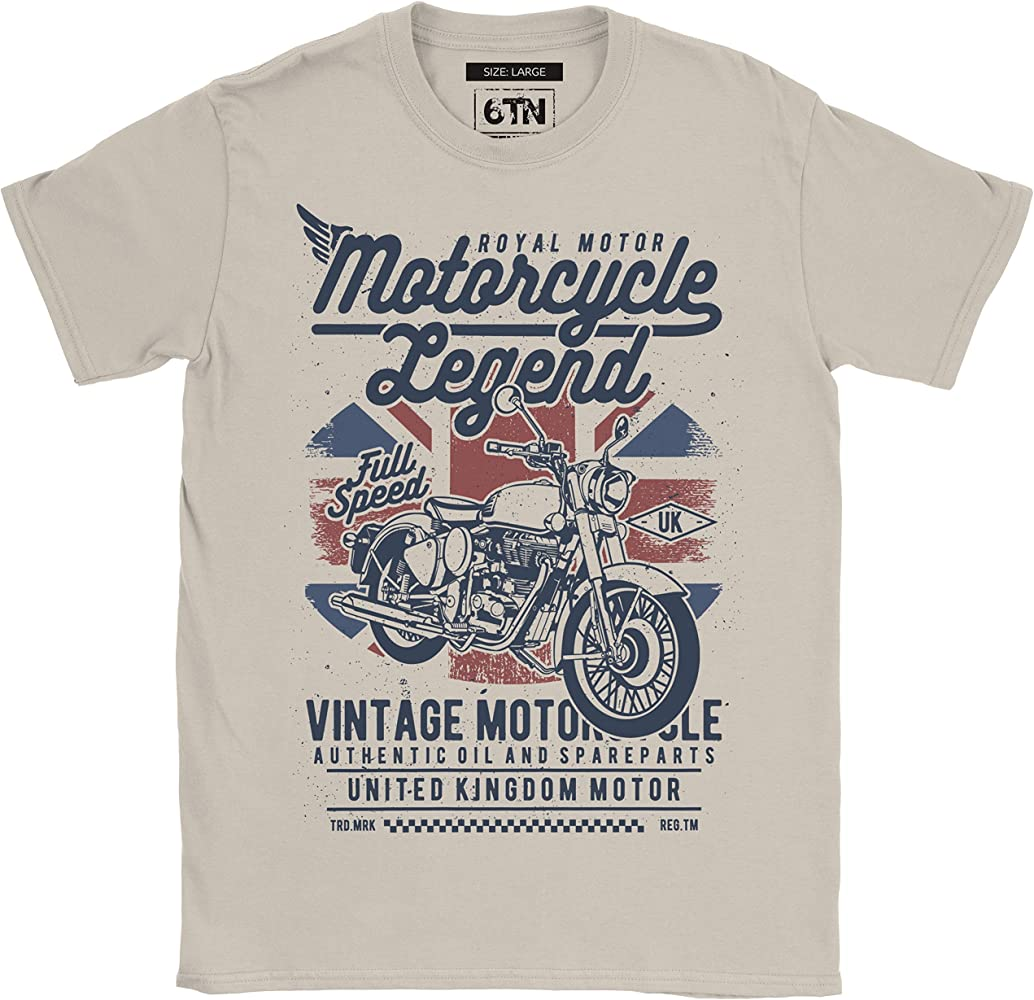 6TN Hombre Moto Legend Camiseta - Arena, Medium: Amazon.es: Ropa y ...