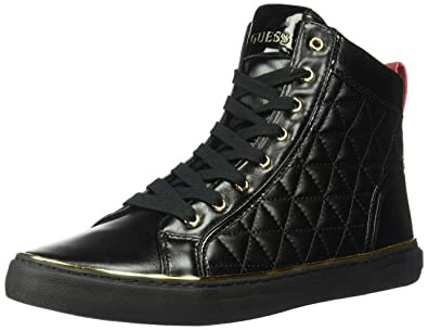 e5150eb1cde861 GUESS Men s Melo Quilted High-Top Sneakers Black