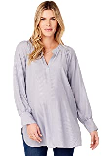 5290556520daa Amazon.com: Ingrid & Isabel Women's Maternity Handkerchief Tunic ...