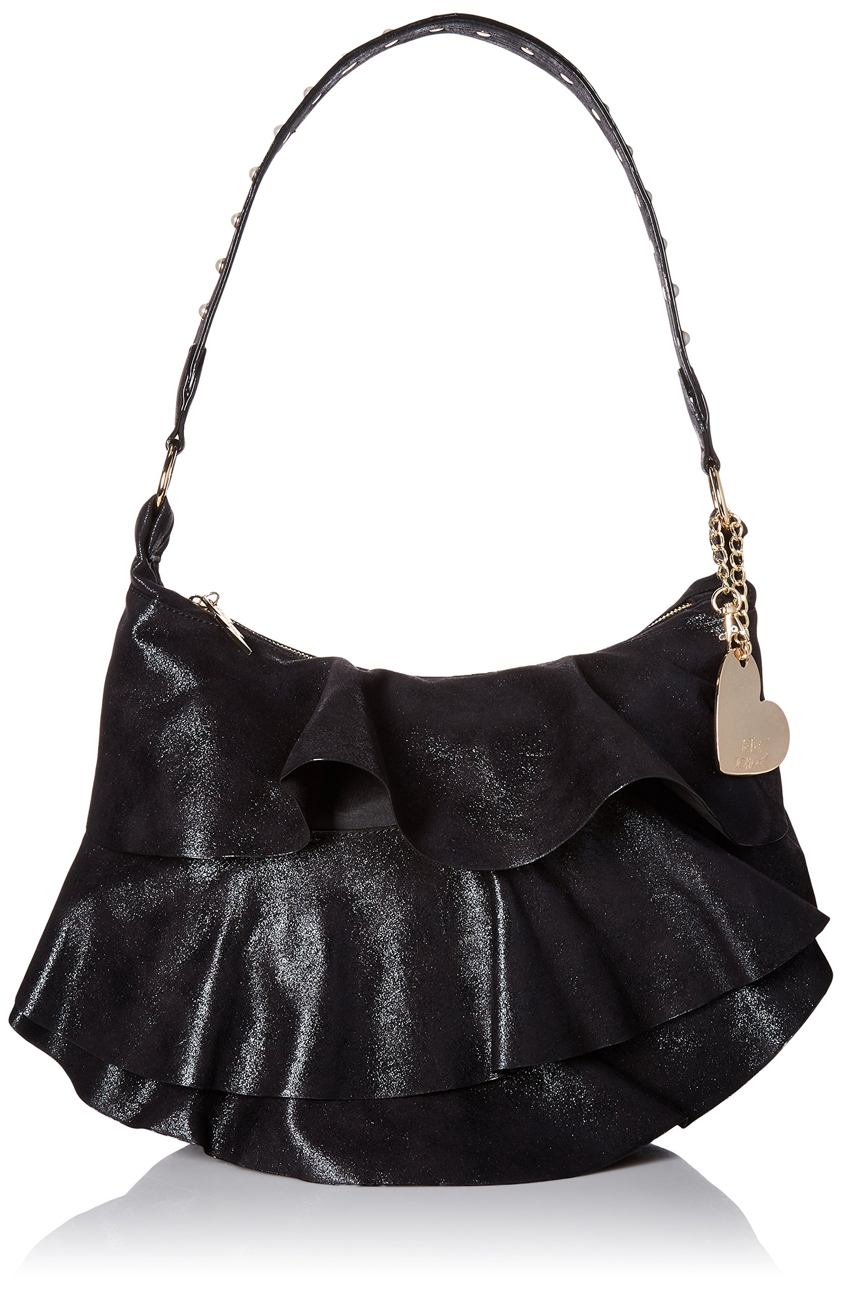 Betsey Johnson Just for the Frill of It Hobo, Black by Betsey Johnson