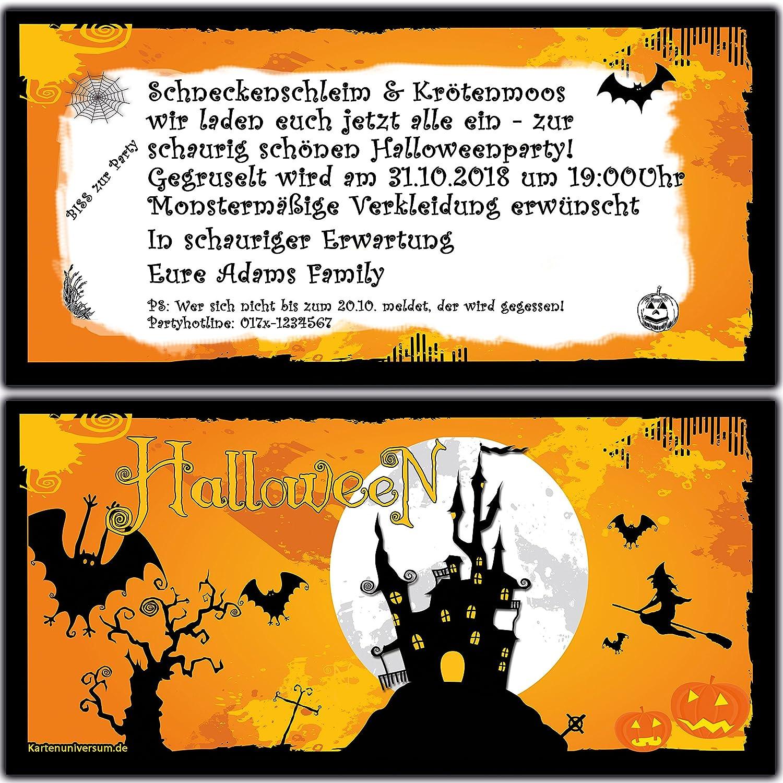 Einladungskarten zur Halloween-Party Halloween-Party Halloween-Party Einladung Geburtstag Feier - 100 Stück Halloween Grusel Ticket Motto-Party Eintrittskarte B01EXJHCSQ   Kostengünstiger    Bequeme Berührung    Queensland  fdc296