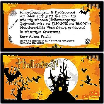 Präferenz Einladungskarten zur Halloween-Party Einladung Geburtstag Feier  YZ99