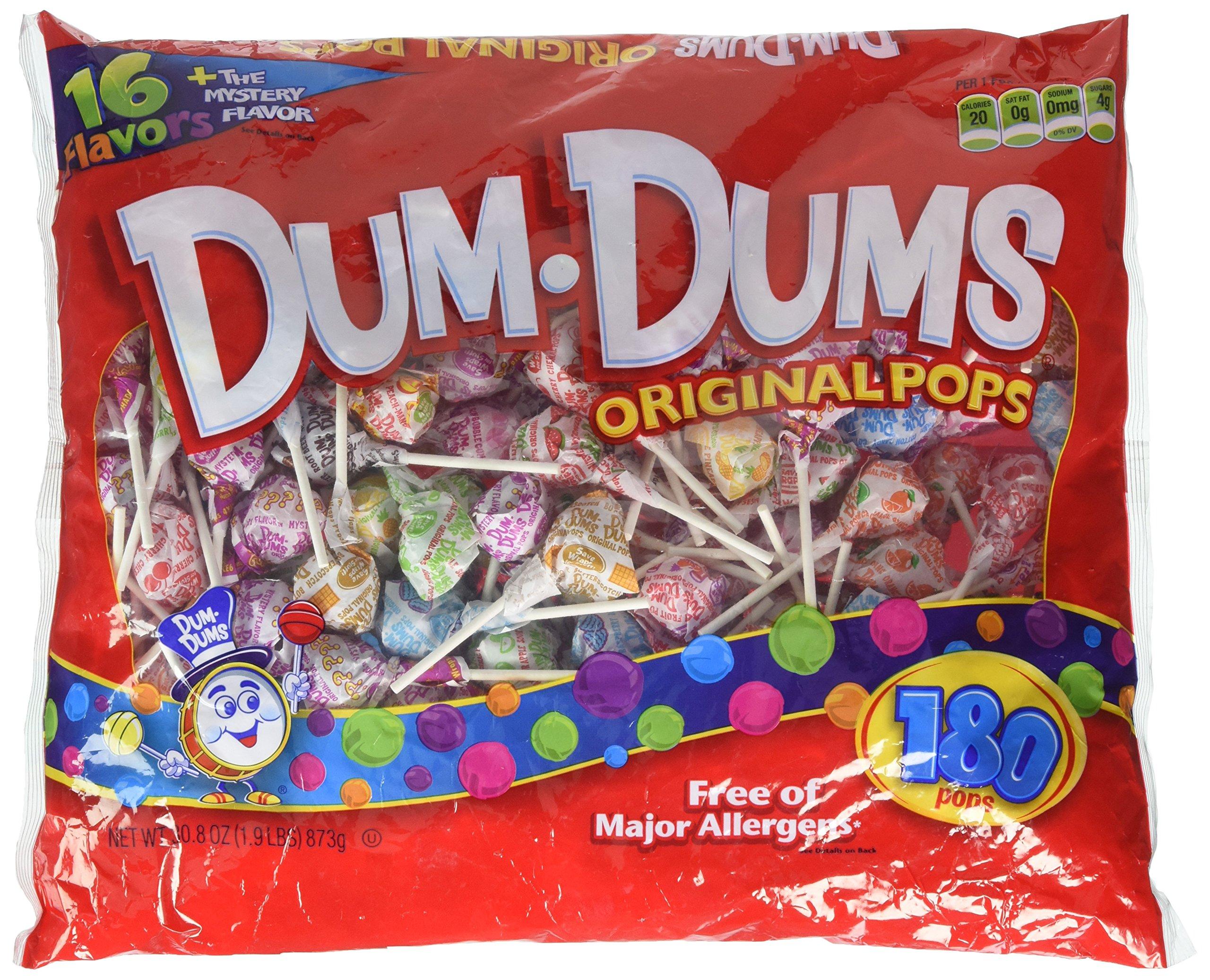 Dum Dum Pops 180 ct bag - assorted flavors by Dum Dums