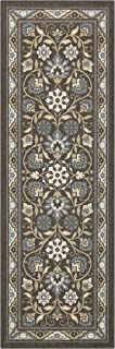 product image for Maples Rugs Florence Runner Rug Non Slip Hallway Entry Carpet [Made in USA], 2 x 6, Light Brown