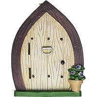 Darice 30007598 Garden Fairy Door with Knocker and Hanging Hook