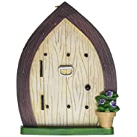 Darice 30007598 Garden Fairy Door with Knocker and Hanging Hook