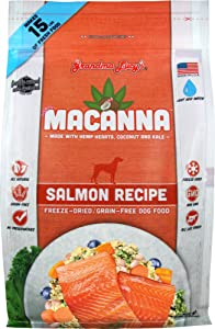 Grandma Lucy's Macanna Dog Food, Grain Free and Freeze-Dried - Salmon Recipe, 3Lb Bag
