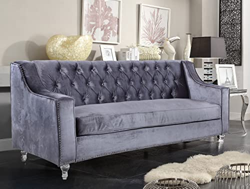Iconic Home Grey Dylan Velvet