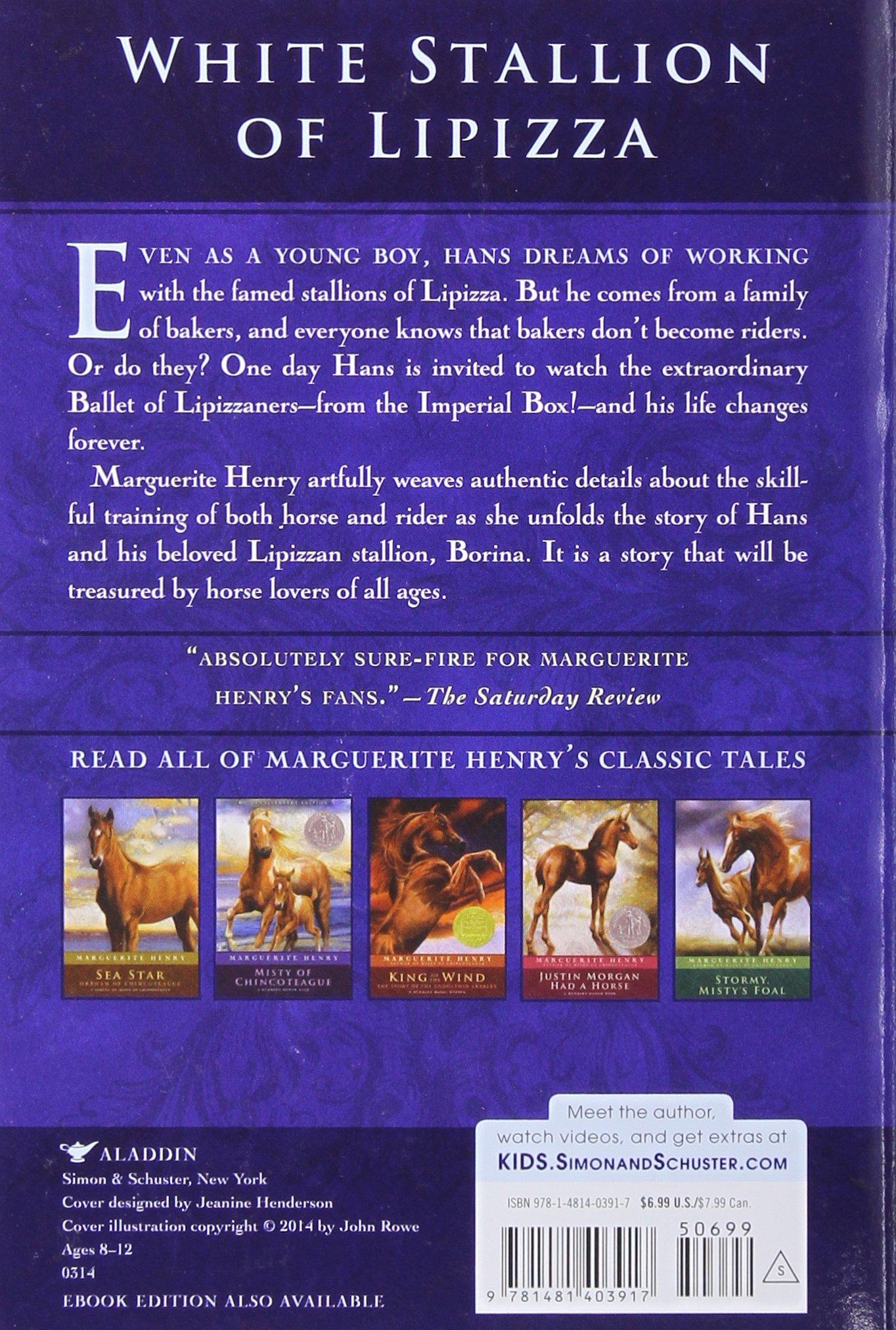 White Stallion Of Lipizza: Marguerite Henry, Wesley Dennis: 9781481403917:  Amazon: Books
