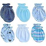 RATIVE Newborn Baby Cotton Gloves No Scratch Mittens For 0-6 Months Boys Girls