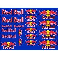 senza marca Sticker compatibel met Red Bull Kit 20 stuks blauw voor auto motorfiets motorcross