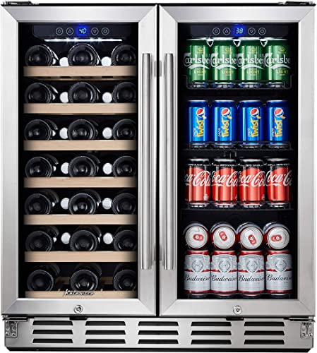 "Kalamera-Beverage-Refrigerator---30""-Beverage-Cooler-with-Glass-Front-Door"
