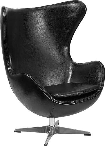 Flash Furniture Black LeatherSoft Egg Chair