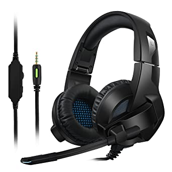 Gaming Headset für PS4/XBox One,Amicool Stereo Bass Surround/Noise Reduction/Volume Control/Over-Ear Gaming kopfhörer mit mik