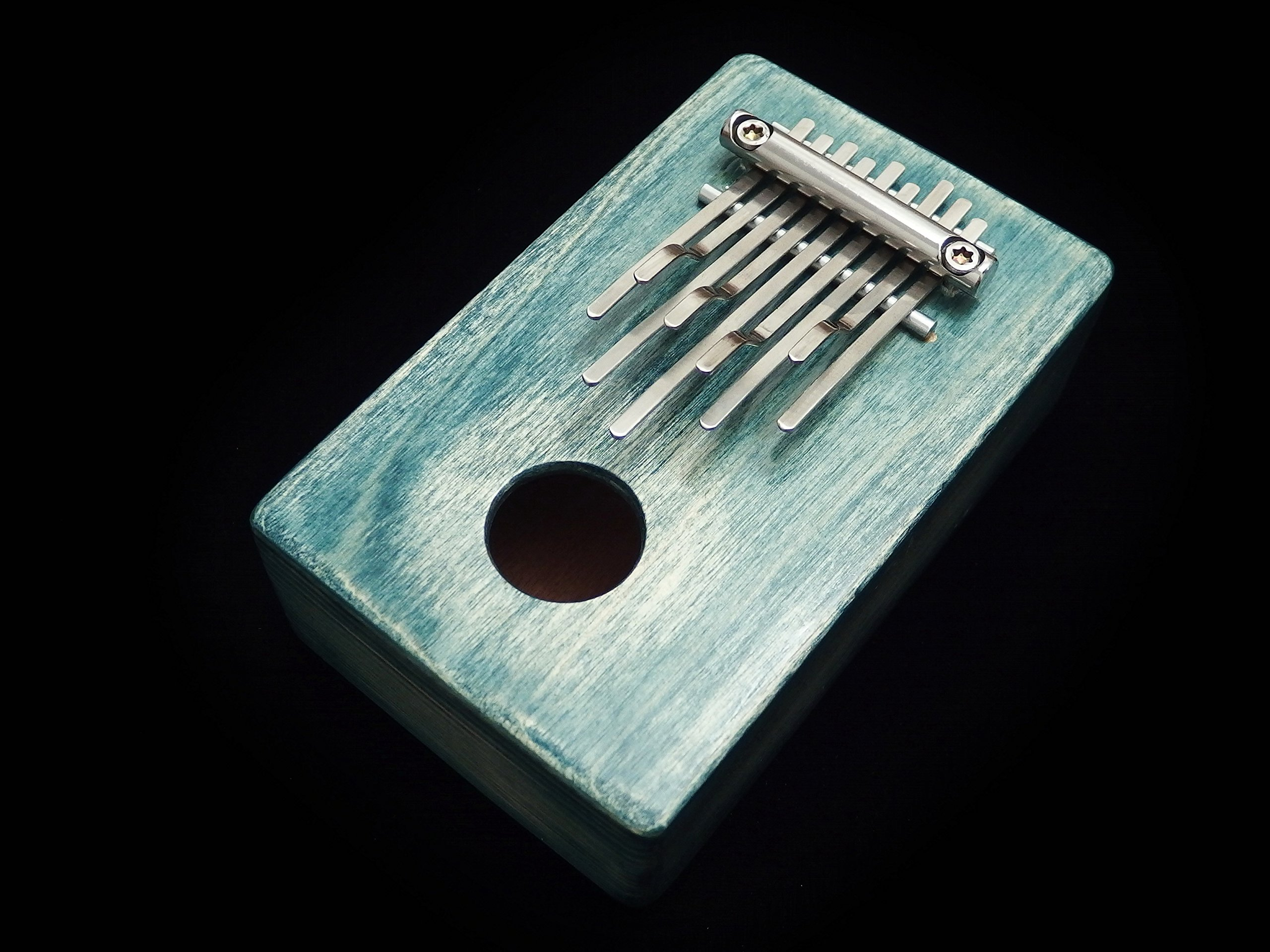 Kalimba / Shamanic rainbow / (Green) Sansula Thumb Piano Great sound