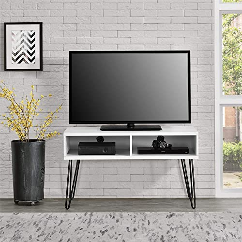 Ameriwood Home Owen Retro TV Stand for TVs up to 42 , White