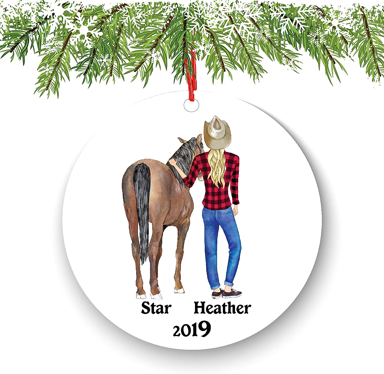 Christmas 2020 Coloring Ordiment Amazon.com: Horse and Female Horse Lover Personalized Christmas