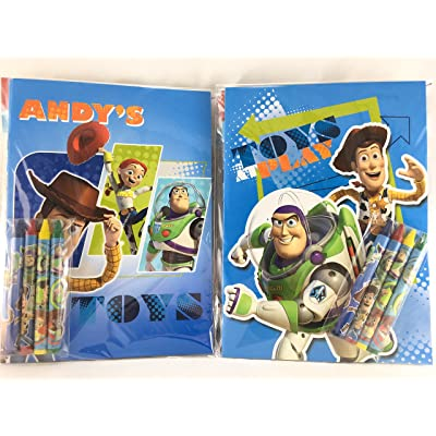 Toy Story Party Favors Coloring Book & Crayon Set 12 Pack ( Assorted Style): Toys & Games